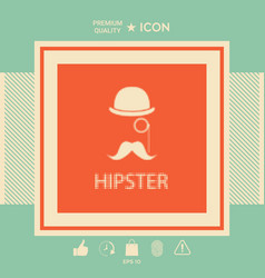 abstract hipster silhouette vector image