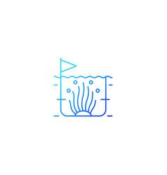 Algaculture gradient linear icon vector