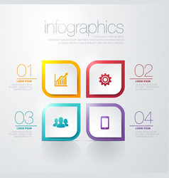 arrow business model with four successive steps vector image