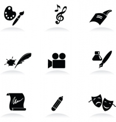 arts icons vector image