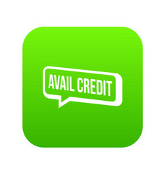 Avail credit icon green vector