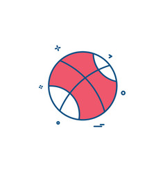 ball playing play game icon design vector image