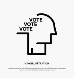 Ballot election poll referendum speech line icon vector