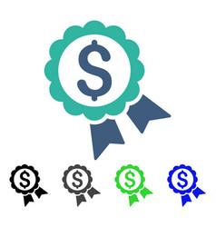 Banking award seal flat icon vector