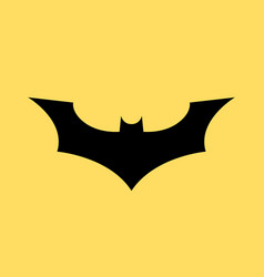 batman logo concept icon bat man dark vector image