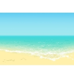Beautiful tropical beach vector