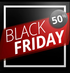 black friday sale concept background cartoon vector image