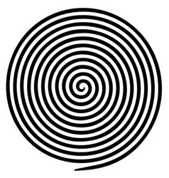 Black white round abstract vortex hypnotic spiral vector