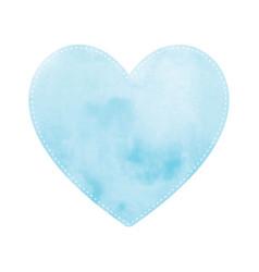 Blue heart on white background vector