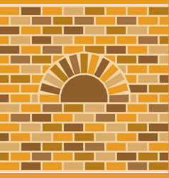 Brick oven and wall background vector