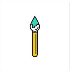 brush icon on white background vector image