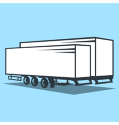 Cargo Trailer sign vector image