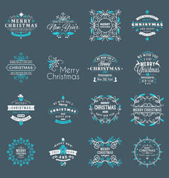 christmas decoration elements merry christmas vector image