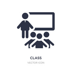 Class icon on white background simple element vector