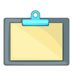 Clipboard with blank sheet of paper icon vector