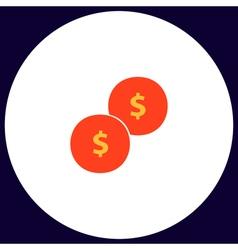 Coins computer symbol vector image