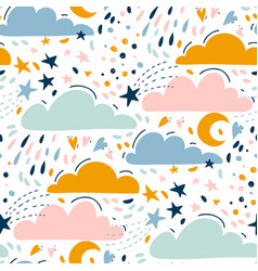 cute kids seamless pattern vector image