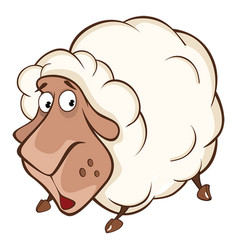 Cute sheep cartoon character vector
