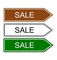 Direction sign sale vector image
