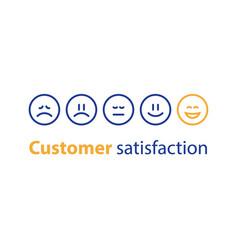 emoticon in a row rating concept vector image