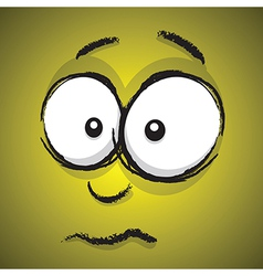 emotions yellow concerned vector image