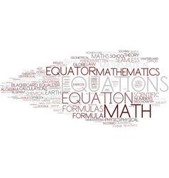 Equations word cloud concept vector