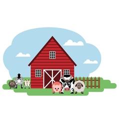 Farm Cow sheep pig horse sheep goat vector