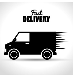 fast delivery shipping business icon vector image
