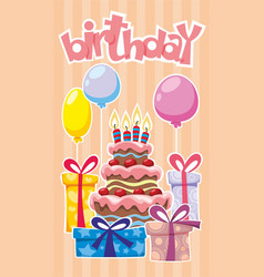 Festive birthday template vector