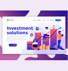 flat modern design wesite template - investment vector image