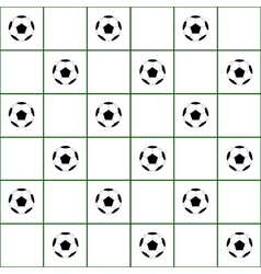 Football Ball Dark Green Grid White Background vector image vector image