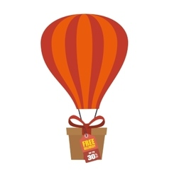 giftbox present flying icon vector image