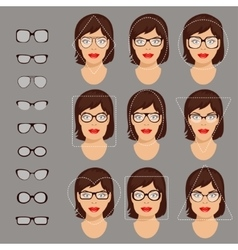 glasses shapes 1 vector image