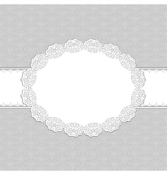 Gray floral frame vector image