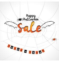 Happy Halloween sale background vector