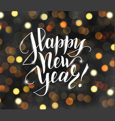 Happy new year text holiday greetings quote vector