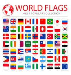 high quality collection set major world vector image