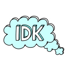 i dont know abbreviation cool teen word vector image
