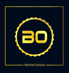Initial letter bo logo template design vector