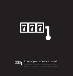 isolated casino icon bingo element can be vector image