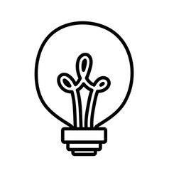 light bulb creativity idea concept icon vector image