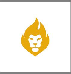 Lion head logo design face elegant icon vector