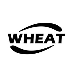 logo for a farm or store wheat - stamp emblem vector image
