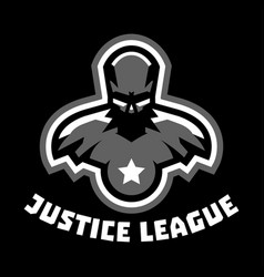 logo superhero superman costume justice league vector image