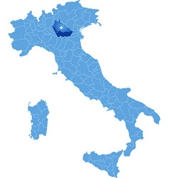 Map of Italy Mantova vector image