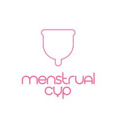 Menstrual cup template vector