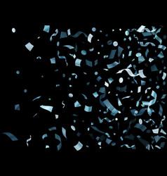 metallic silver shiny holiday confetti flying vector image