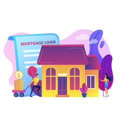 mortgage loan concept vector image