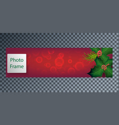 New years cover for web with rowan berries vector