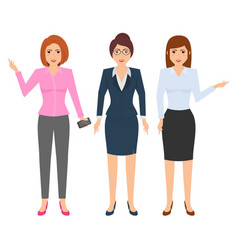 Office businesswoman outfit character design vector